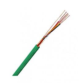 Cablu ecranat iz. şi manta PVC J-Y(ST)Y 2x2x0,8 EIB verde