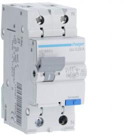 Disjunctor diferential P+N 10A 30mA 4,5kA tip AC Hager AD860J