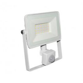 Proiector cu LED si senzor de miscare alb 20W 4000k