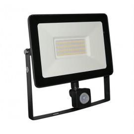 Proiector cu LED si senzor de miscare 50W, antracit, 4000k