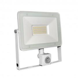 Proiector cu LED si senzor de miscare 30W  alb 4000k