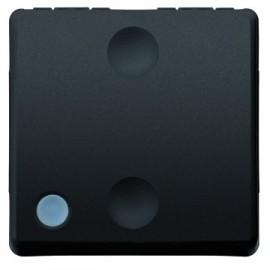 Intrerupator Cap Scara Simplu Cu Indicator Luminos Gewiss System GW21589, Incastrat, Modular - 2, negru