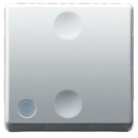 Intrerupator cap scara simplu cu indicator luminos Gewiss System GW20589, incastrat, modular - 2, alb