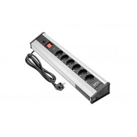 Prelungitor GTV Desk 6X SCHUCKO, 4xUSB date, 2xUSB 5V 2.1A cu cablu de 1,8 m AE-PBMUL6S6U-53 GTV