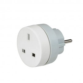 Adaptor priza UK - FR/DE LEGRAND 050383, alb-gri